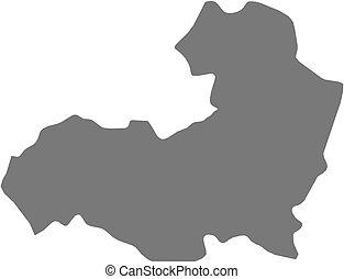 Map - Aragatsotn Armenia - Map of Aragatsotn, a province of...