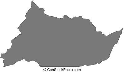 Map - Adamawa Cameroon - Map of Adamawa, a province of...