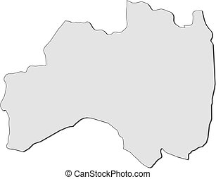 Map - Fukushima (Japan) - Map of Fukushima, a province of...