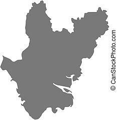 Map - Dhaka Bangladesh - Map of Dhaka, a province of...