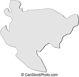 Map - Saga Japan - Map of Saga, a province of Japan