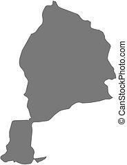 Map - Jowzjan Afghanistan - Map of Jowzjan, a province of...