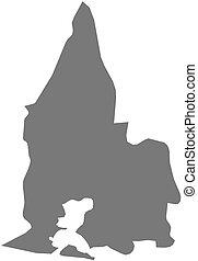 Map - Sud-Comoe (Ivory Coast) - Map of Sud-Comoe, a province...