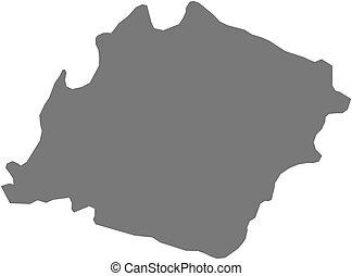 Map - Ibb Yemen - Map of Ibb, a province of Yemen