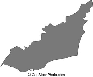 Map - Lahij (Yemen) - Map of Lahij, a province of Yemen.