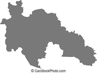 Map - Savanes (Ivory Coast)