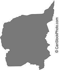 Map - Ouham (Central African Republic) - Map of Ouham, a...