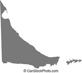 Map - Tierra del Fuego (Argentina) - Map of Tierra del...