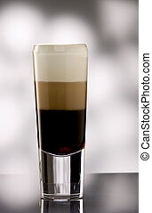 Layered coffee long drink