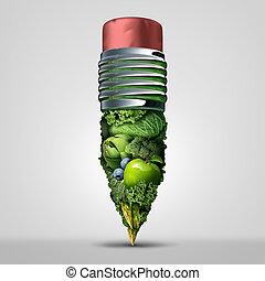 Healthy Plan concept - Healthy plan concept as an asparagus...