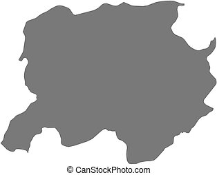 Map - Labe Guinea - Map of Labe, a province of Guinea