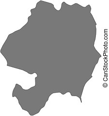 Map - Wicklow (Ireland) - Map of Wicklow, a province of...