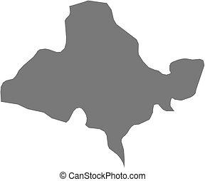Map - Ocotepeque Honduras - Map of Ocotepeque, a province of...