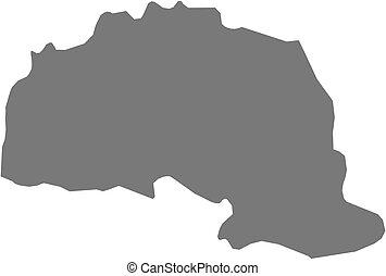 Map - Polva Estonia - Map of Polva, a province of Estonia