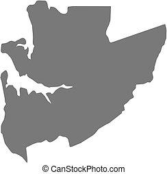 Map - Estuaire Gabon - Map of Estuaire, a province of Gabon...