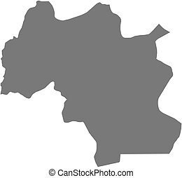 Map - Mamou Guinea - Map of Mamou, a province of Guinea