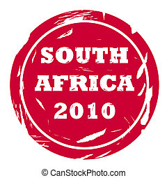 Used South Africa 2010 stamp