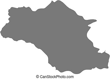Map - Gambela (Ethiopia) - Map of Gambela, a province of...