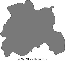 Map - Laois (Ireland) - Map of Laois, a province of Ireland.