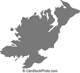 Map - Donegal (Ireland) - Map of Donegal, a province of...