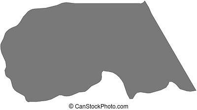 Map - Maekel Eritrea - Map of Maekel, a province of Eritrea...