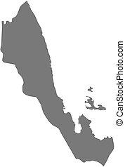 Map - Debub Eritrea - Map of Debub, a province of Eritrea