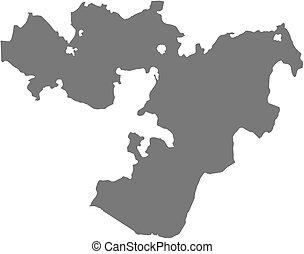 Map - Oromia Ethiopia - Map of Oromia, a province of...