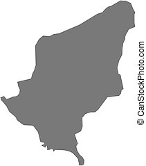 Map - Somogy Hungary - Map of Somogy, a province of Hungary...