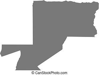 Map - Woleu-Ntem Gabon - Map of Woleu-Ntem, a province of...