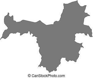 Map - Nzerekore Guinea - Map of Nzerekore, a province of...