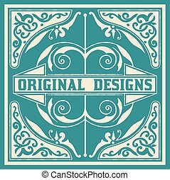 Baroque design with floral details and ornaments. All...