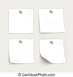 Vector Set of Paper Sticker Sticky Note Post Memo Label...