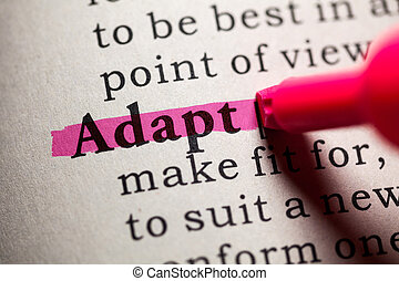 adapt - Fake Dictionary, Dictionary definition of the word...