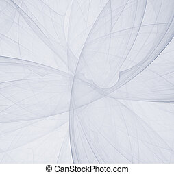 Abstract white fractal background, concept of mystery