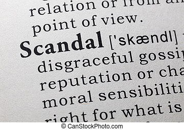 definition of scandal - Fake Dictionary, Dictionary...