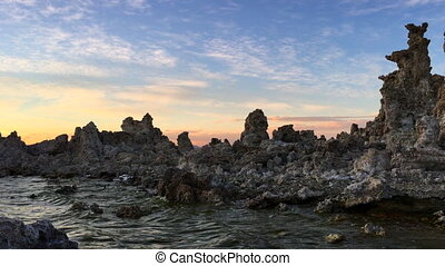 Mono Lake Sunset - Calcium Carbonate limestone Mono Lake...