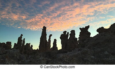 Tufa Towers at Mono Lake - Mono lake Tufa Towers Against...