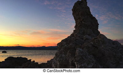 South Tufa at Sunset Calcium Spires at Mono Lake - Tufa...