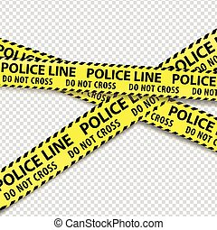 Police tape. - Police do not enter cordon tapes. Vector...