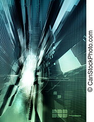 High Impact Background - Fast technology illustration...
