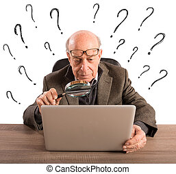 Difficult technology for a man elderly - Confused elderly...