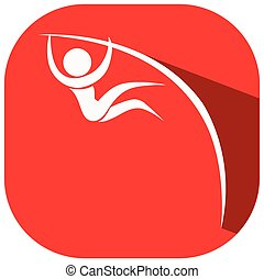 Sport icon for pole vault illustration