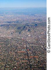 光景, アリゾナ, 航空写真, フェニックス