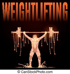 wheightlifting poly in motion - Weightlifter raises the bar...