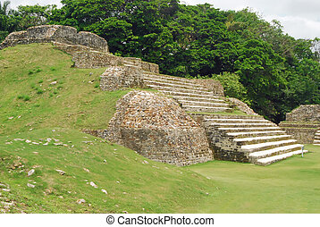 Mayan Temple - Mayan temple ruins in Belize,Central America
