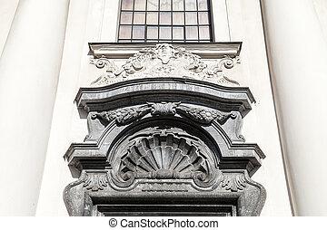 Details of portal of the Church on Skalka, Krakow, Poland -...