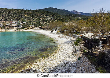 village of Aliki,Thassos - Panoramic view to village of...