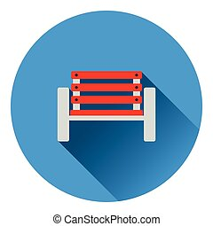 Tennis player bench icon Flat color design Vector...