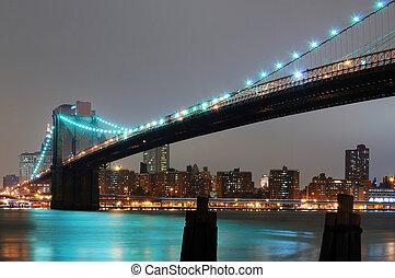 NEW YORK CITY WITH BROOKLYN BRIDGE