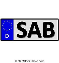 Saarburg license plate number